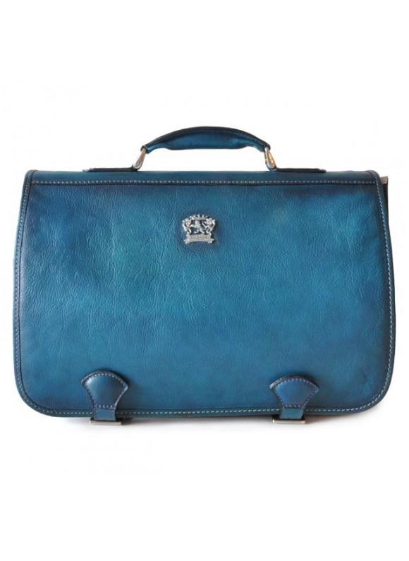 Pratesi Business Bag Secchieta in cow leather - Bruce Blue