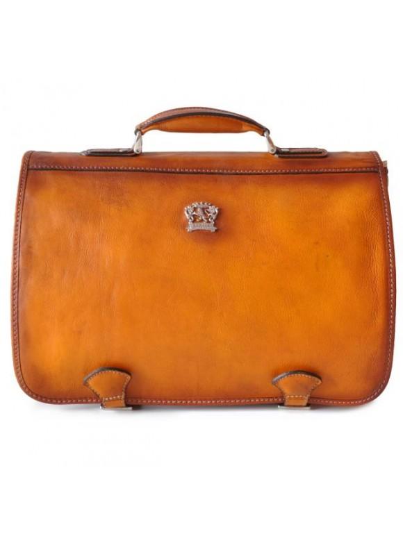 Pratesi Business Bag Secchieta in cow leather - Bruce Cognac
