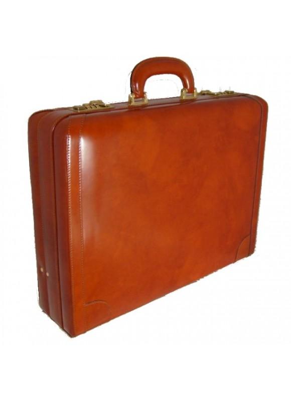 Pratesi Tiziano Attach Case 24h in cow leather - Radica Brown
