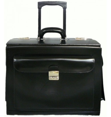 Pratesi Arnolfo di Cambio Pilot Case in cow leather - Radica Black