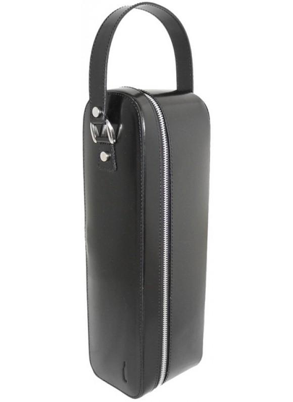 Pratesi Bacco Wine Case in cow leather - Radica Black