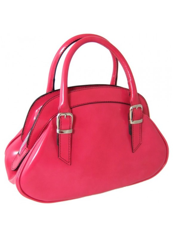Pratesi Giotto Handbag in cow leather - Radica Pink