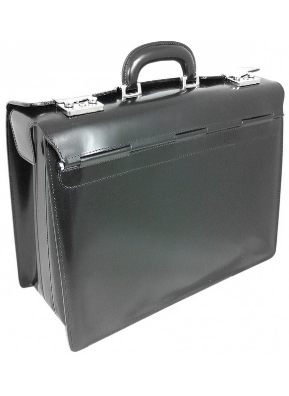 Pratesi Lorenzo il Magnifico Pilot Case in cow leather - Radica Black