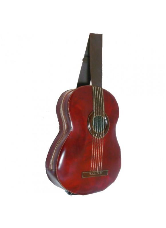 Pratesi Da Filicaja Guitar Backpack in cow leather - Radica Chianti
