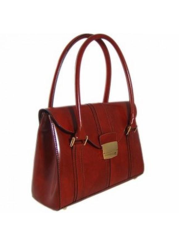 Pratesi Pinturicchio Small Shoulder Bag in cow leather - Radica Brown