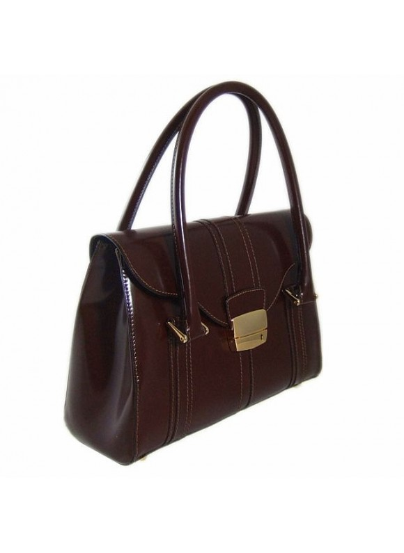 Pratesi Pinturicchio Small Shoulder Bag in cow leather - Radica Coffee