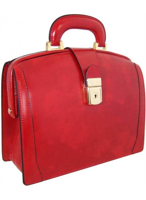Pratesi Miss Brunelleschi Bag in cow leather - Radica Cherry