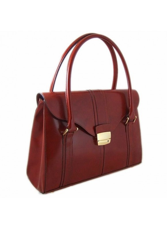 Pratesi Pinturicchio Shoulder Bag in cow leather - Radica Brown