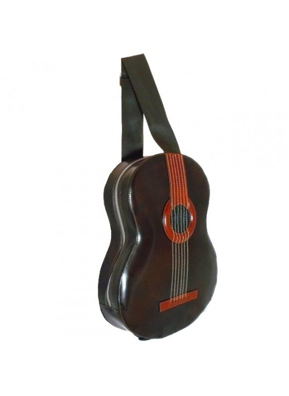 Pratesi Da Filicaja Guitar Backpack in cow leather - Radica Coffee