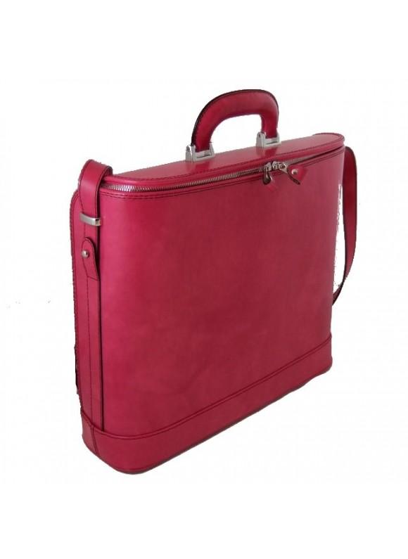 Pratesi Raffaello Laptop Bag 17 in cow leather - Radica Pink