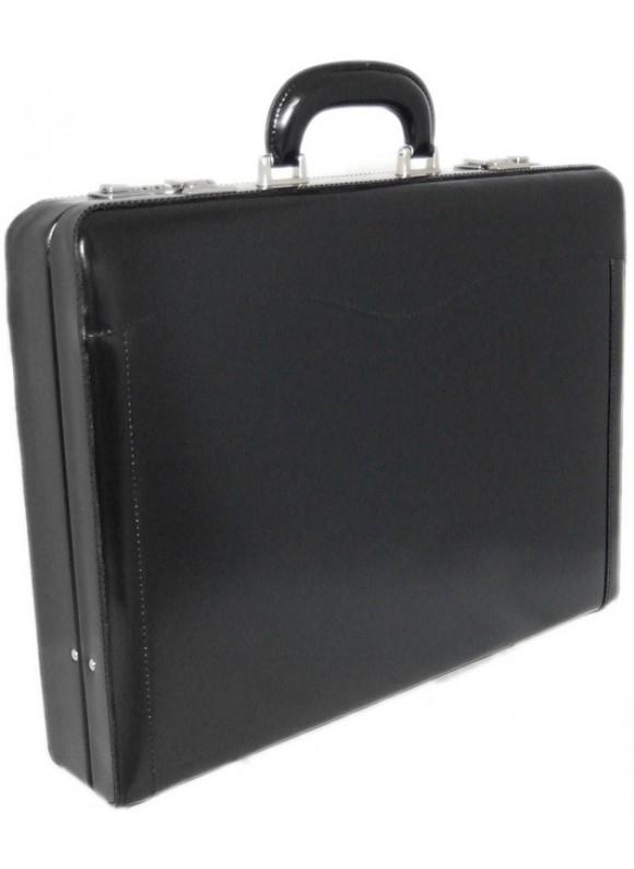 Pratesi Federico da Montefeltro Attach Case 24h in cow leather - Radica Black