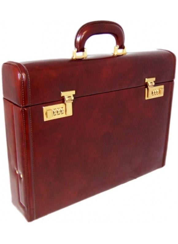 Pratesi Ghirlandaio Briefcase in cow leather - Radica Coffee