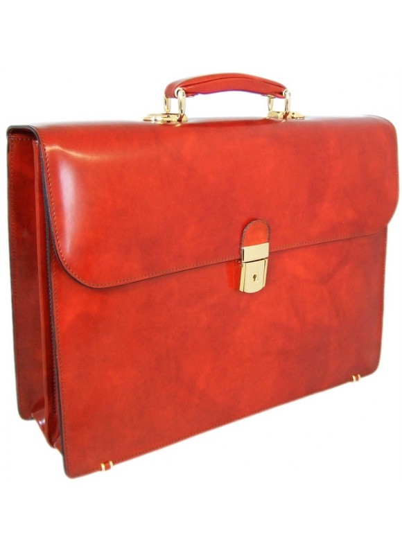 Pratesi Donatello Radica Briefcase in cow leather - Radica Brown