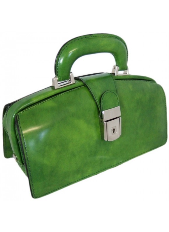 Pratesi Lady Brunelleschi Bag in cow leather - Radica Green