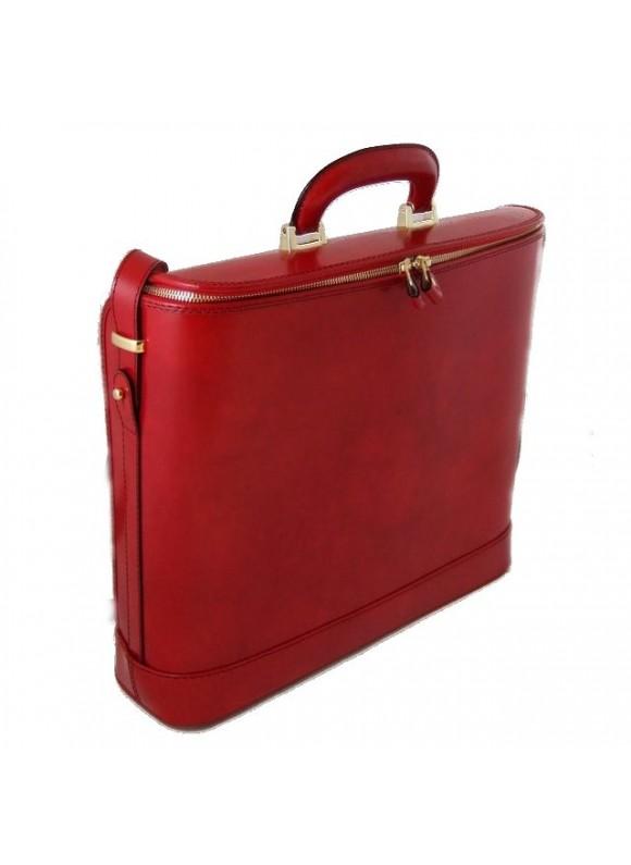 Pratesi Raffaello Laptop Bag 17 in cow leather - Radica Cherry