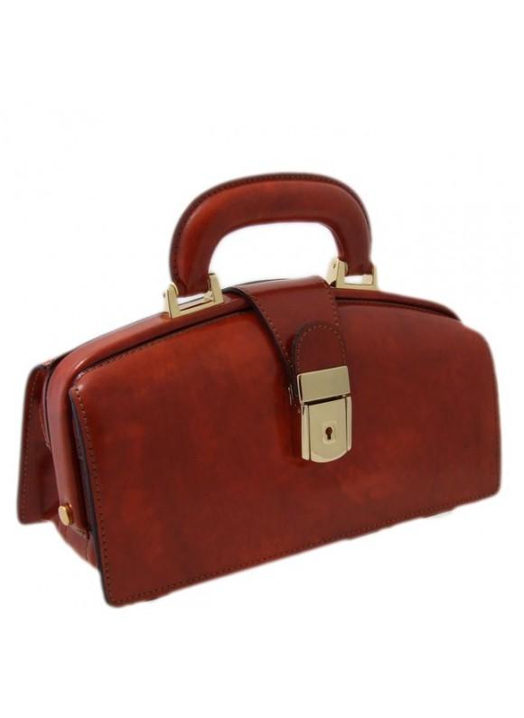 Pratesi Lady Brunelleschi Bag in cow leather - Radica Brown