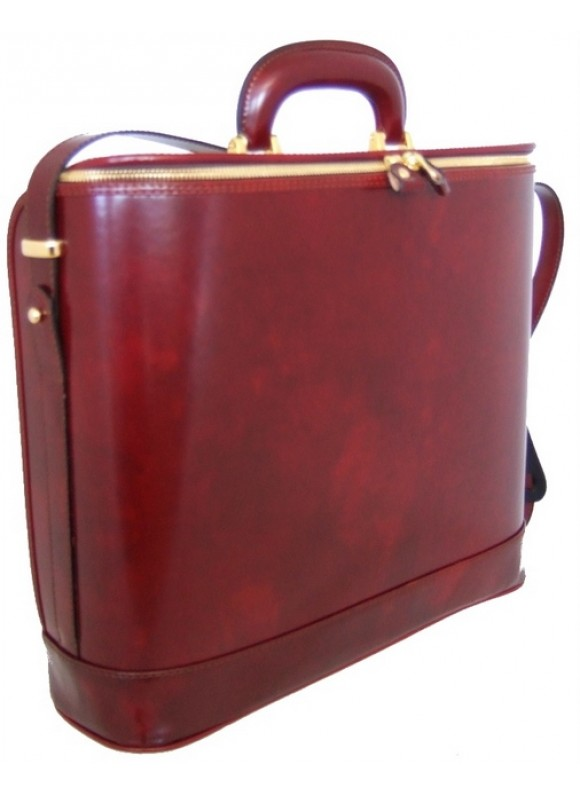 Pratesi Raffaello Laptop Bag 15 in cow leather - Radica Chianti