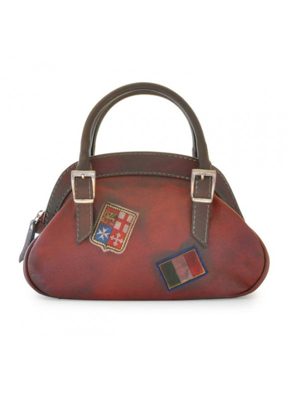 Pratesi Handbag Giotto in cow leather - Bruce Cherry