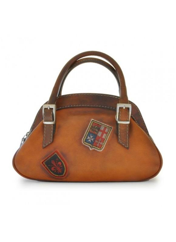 Pratesi Handbag Giotto in cow leather - Bruce Cognac
