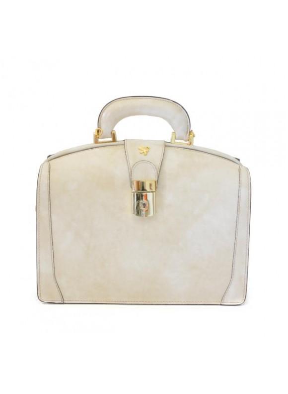 Pratesi Miss Brunelleschi Bag in cow leather - Radica Panna