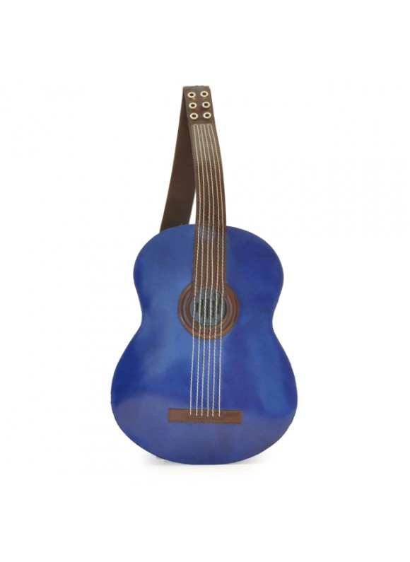 Pratesi Da Filicaja Guitar Backpack in cow leather - Radica Blue