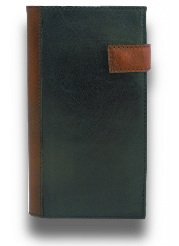 'Pratesi Fiorino d''oro Leather Breast Wallet - BRUCE Black'