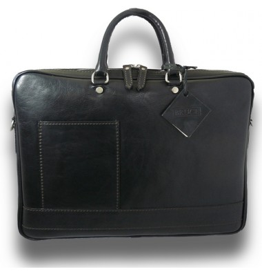 Pratesi Briefcase Cortona in cow leather - Bruce Black