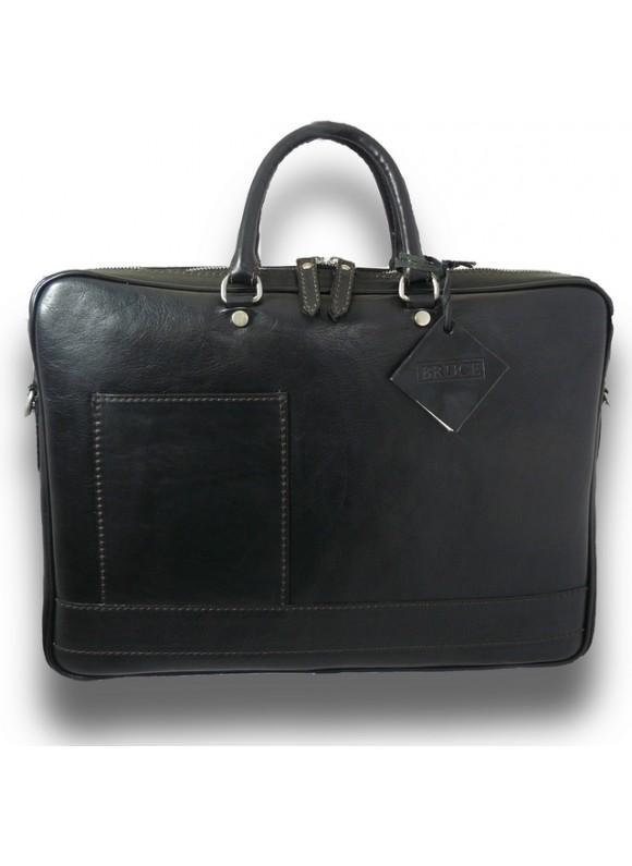 Pratesi Briefcase Cortona in cow leather - Bruce Black