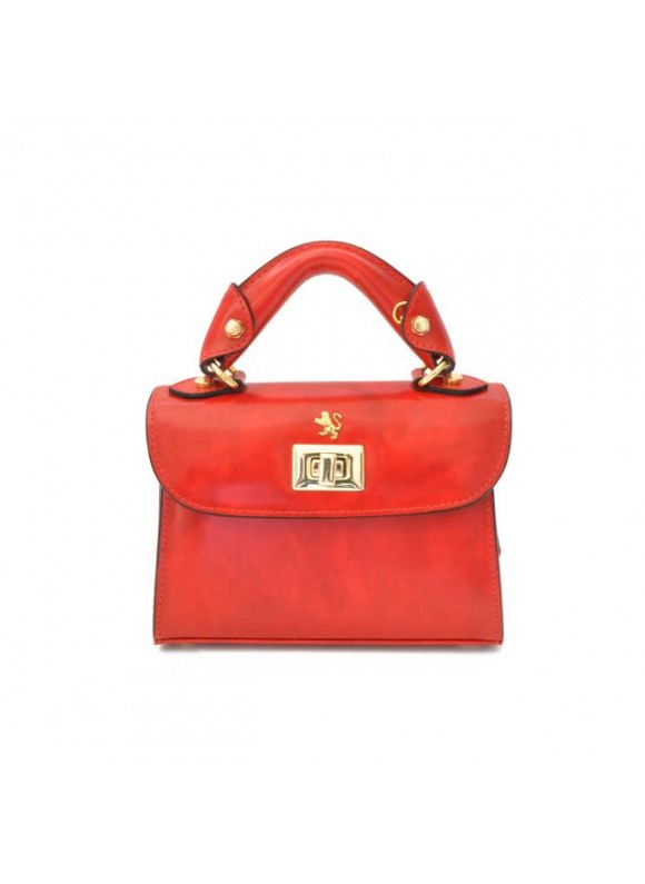 Pratesi Lucignano Small Handbag in cow leather - Radica Cherry