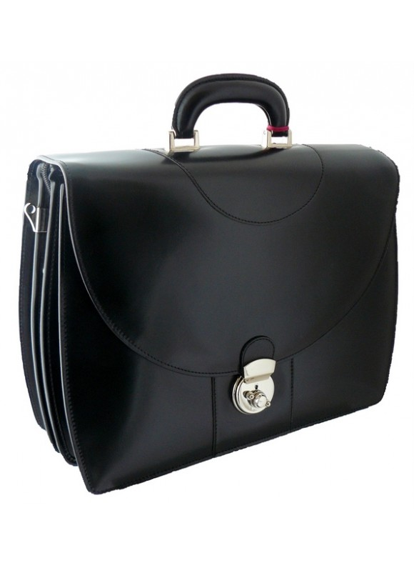 Pratesi Michelangelo PC Briefcase in cow leather - Radica Black