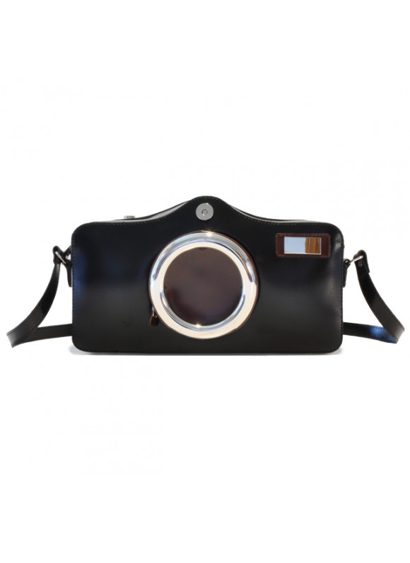 Pratesi Photocamera Radica Shoulder Bag in cow leather - Radica Black