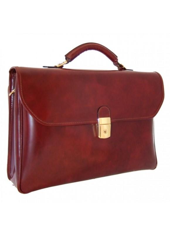 Pratesi Piccolomini Briefcase in cow leather - Radica Brown