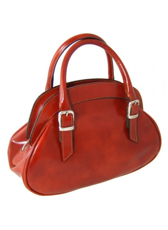 Pratesi Giotto Handbag in cow leather - Radica Brown