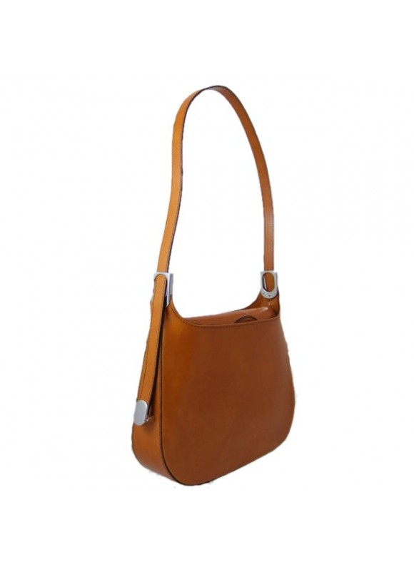Pratesi Tintoretto Shoulder Bag in cow leather - Radica Mustard
