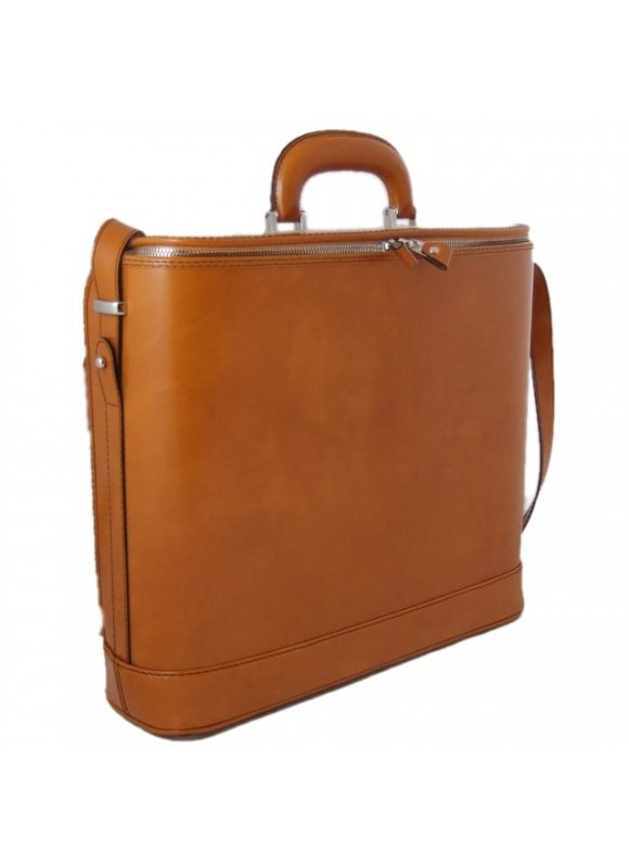Pratesi Raffaello Laptop Bag 15 in cow leather - Radica Mustard