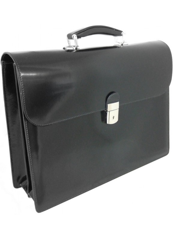 Pratesi Donatello Radica Briefcase in cow leather - Radica Black