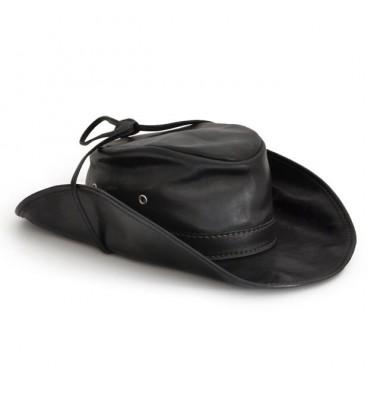 Pratesi Cagliostro Hat 57 cm in cow leather - Bruce Black