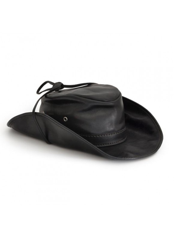 Pratesi Cagliostro Hat 61 cm in cow leather - Bruce Black