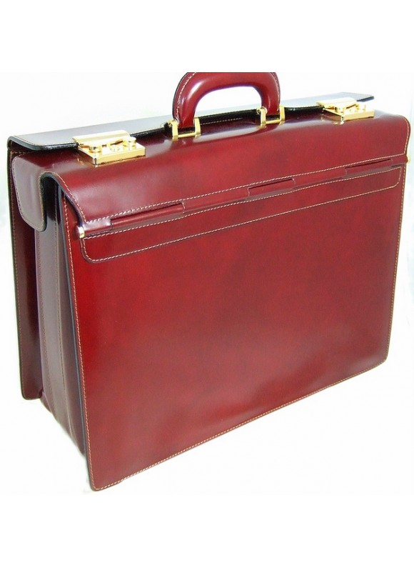 Pratesi Lorenzo il Magnifico Pilot Case in cow leather - Radica Chianti