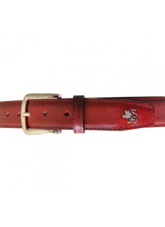 Pratesi Belt in cow leather - Bruce Cherry