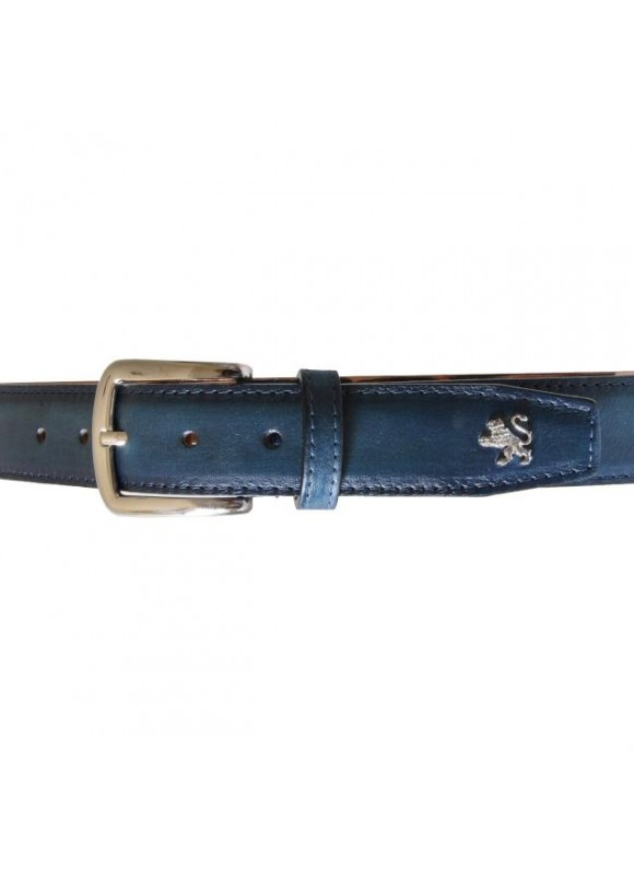 Pratesi Belt in cow leather - Bruce Blue
