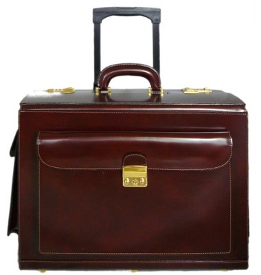 Pratesi Arnolfo di Cambio Pilot Case in cow leather - Radica Coffee