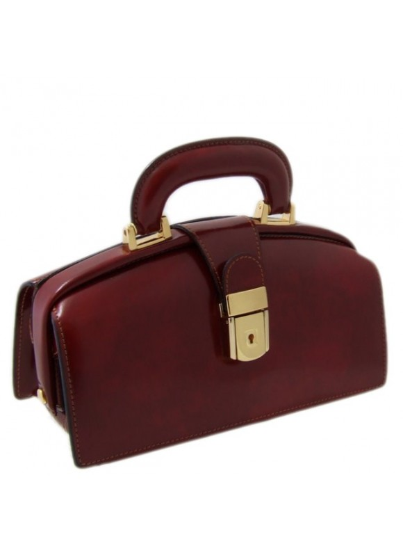 Pratesi Lady Brunelleschi Bag in cow leather - Radica Chianti