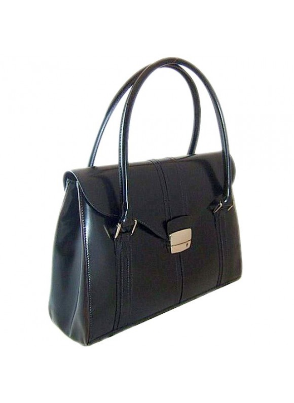 Pratesi Pinturicchio Shoulder Bag in cow leather - Radica Black