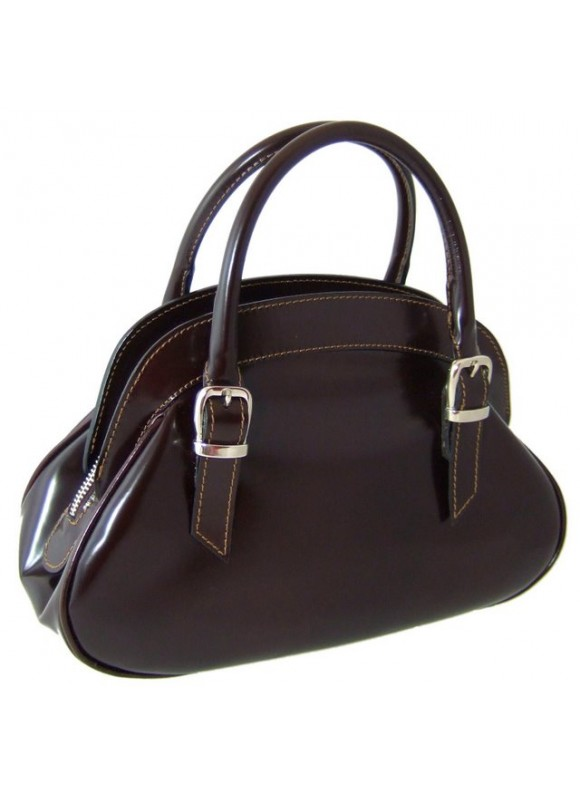 Pratesi Giotto Handbag in cow leather - Radica Coffee