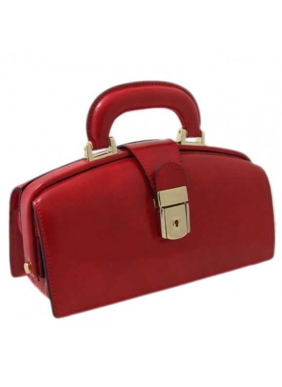 Pratesi Lady Brunelleschi Bag in cow leather - Radica Cherry