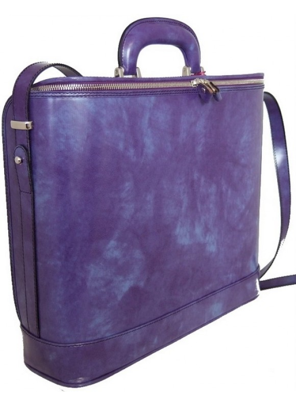 Pratesi Raffaello Laptop Bag 15 in cow leather - Radica Violet
