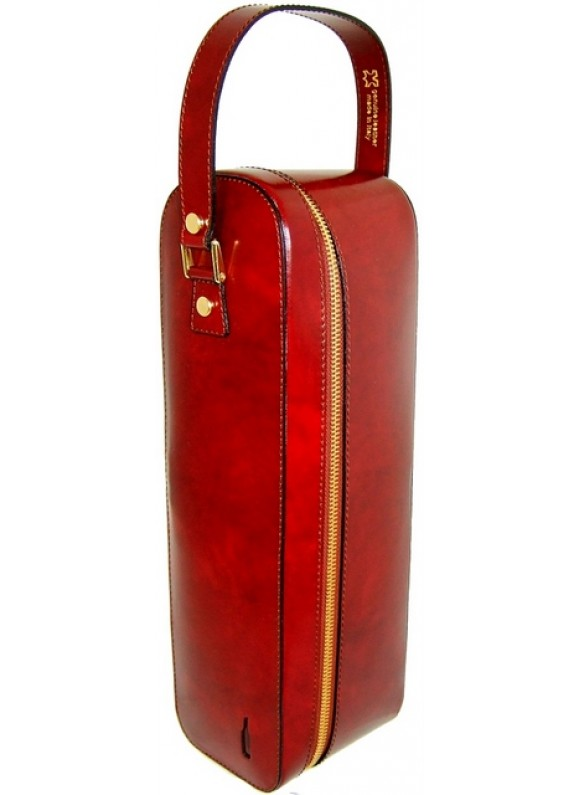 Pratesi Bacco Wine Case in cow leather - Radica Chianti