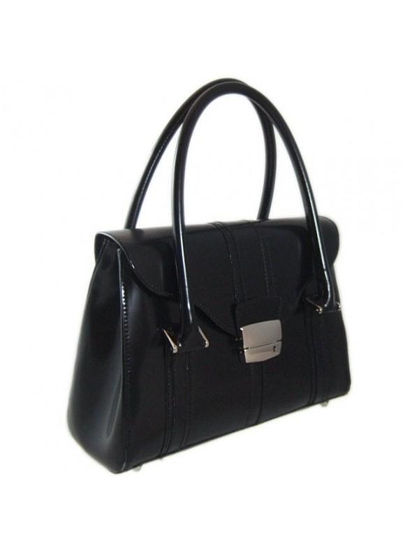 Pratesi Pinturicchio Small Shoulder Bag in cow leather - Radica Black