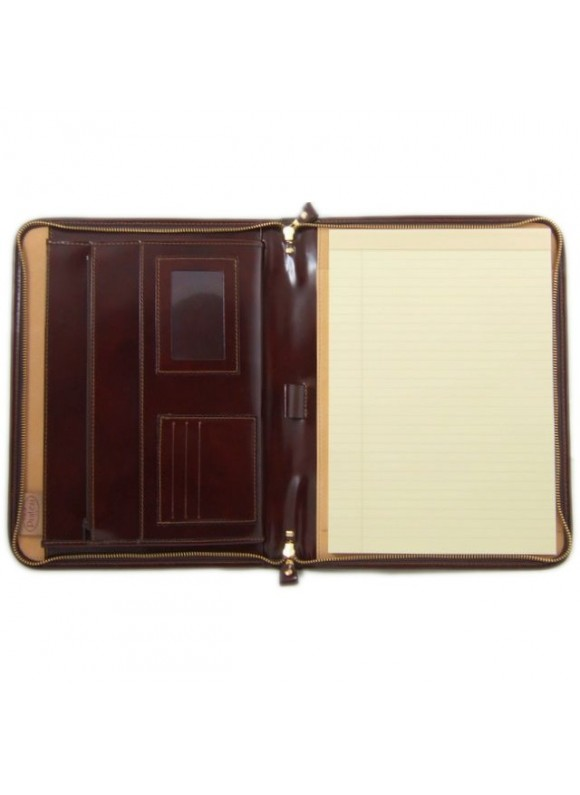 Pratesi Dante R Portfolio for Notes in cow leather - Radica Coffee